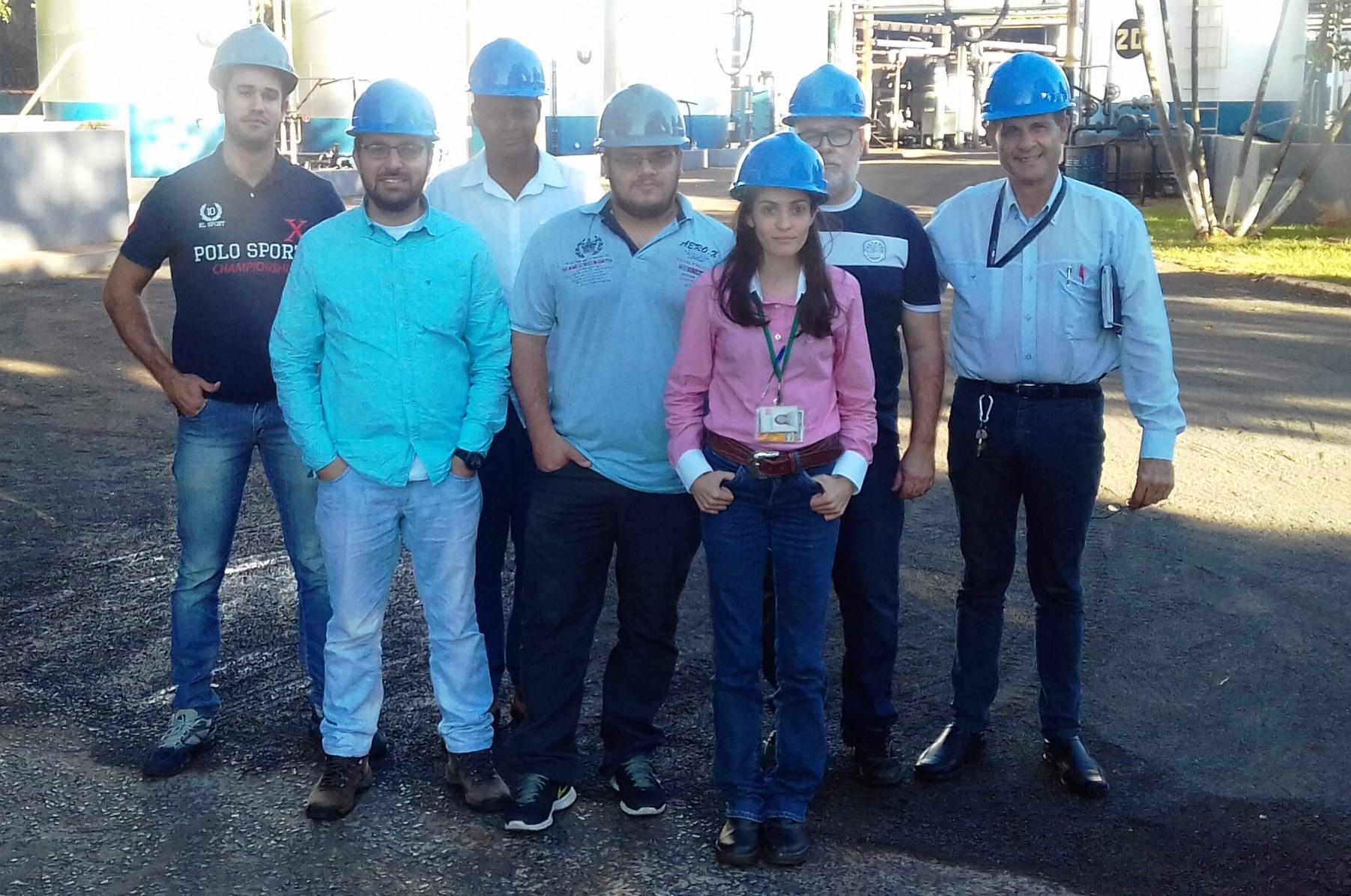 Visita à Betunel amplia conhecimentos técnicos de alunos de Pós-Graduação